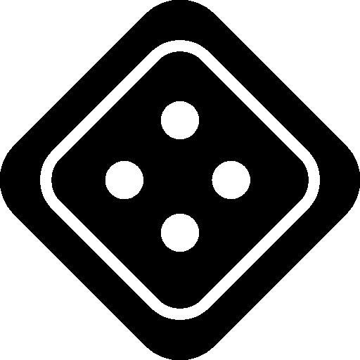 würfel mit vier punkten  kostenlos Icon