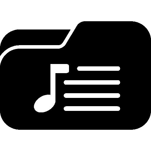 음악 재생 목록 폴더  무료 아이콘