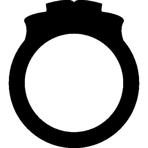 silueta de anillo de compromiso  icono gratis