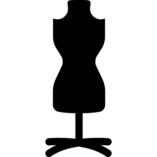 Mannequin with stand  free icon