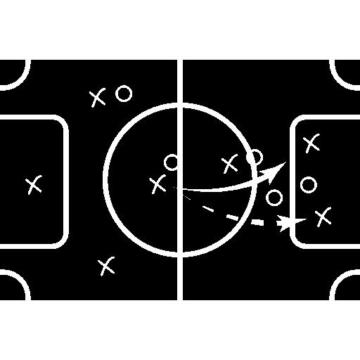 법원에 축구 스케치  무료 아이콘