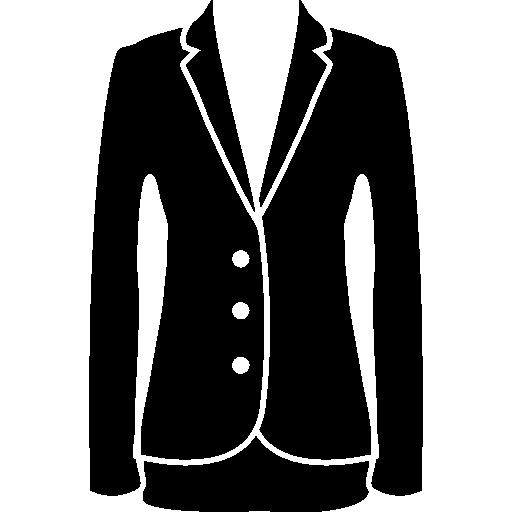 Jacket elegant feminine black clothes for business  free icon