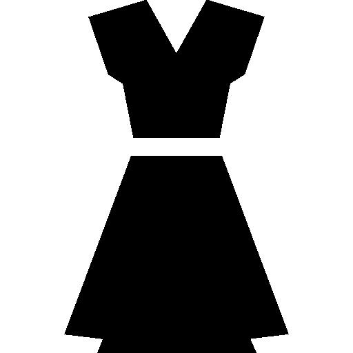 Female black dress  free icon