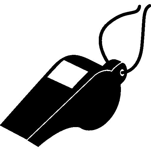 심판의 축구 휘파람  무료 아이콘