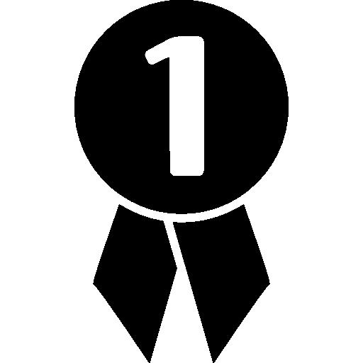 1 번 축구 메달  무료 아이콘