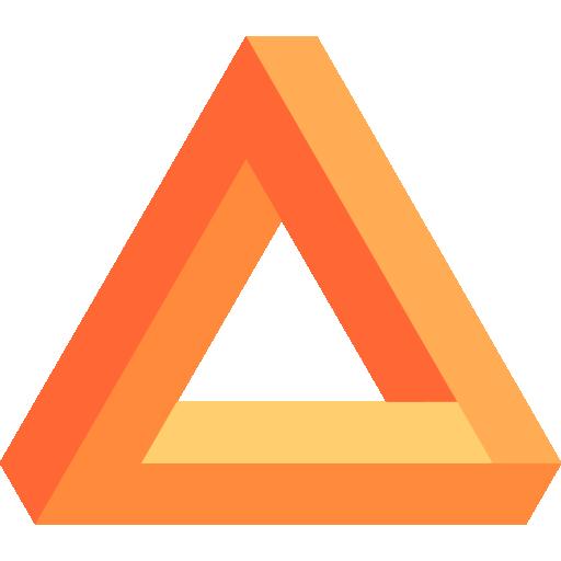 Triangular  free icon