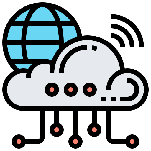 Cloud network  free icon