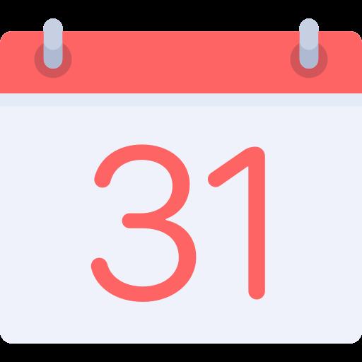 Weekly calendar  free icon