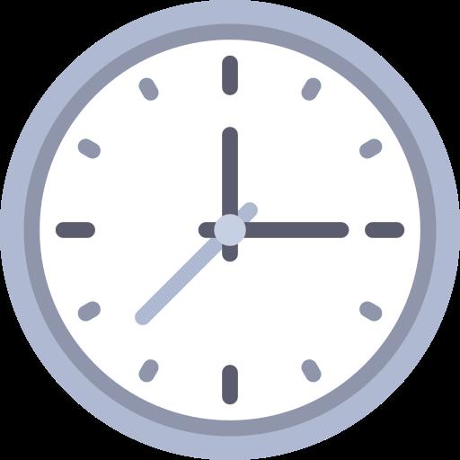Circular clock  free icon