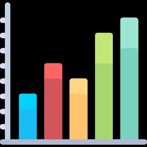 Bars chart  free icon