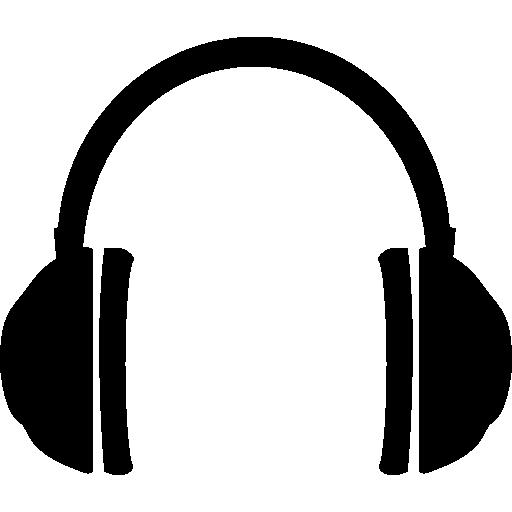 auriculares redondeados  icono gratis