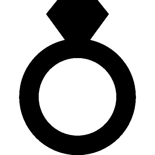 Diamond engagement ring silhouette  free icon