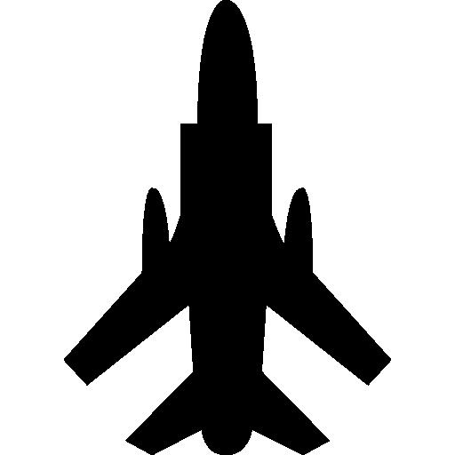Армейский самолет вид снизу  бесплатно иконка