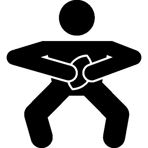 jogador de rúgbi na defesa da bola  grátis ícone