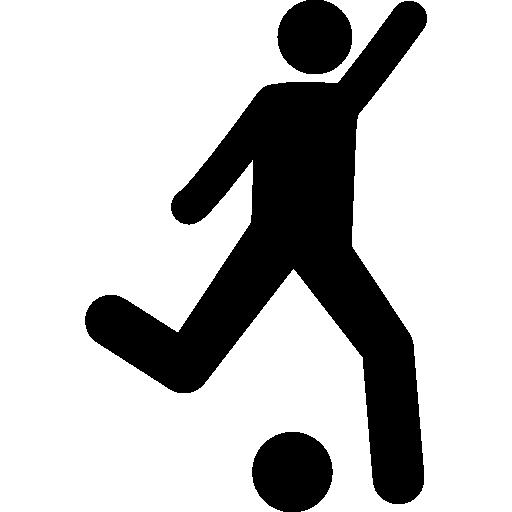 공을 차는 축구 선수  무료 아이콘