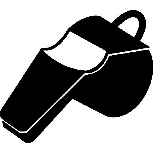 흰색 디테일의 휘파람  무료 아이콘
