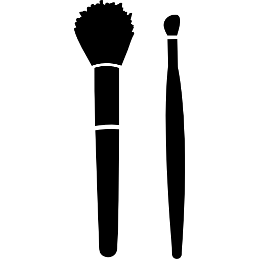 Make up brushes for blush and lipstick  free icon