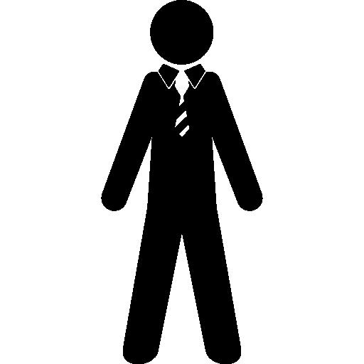 homem de terno e gravata  grátis ícone