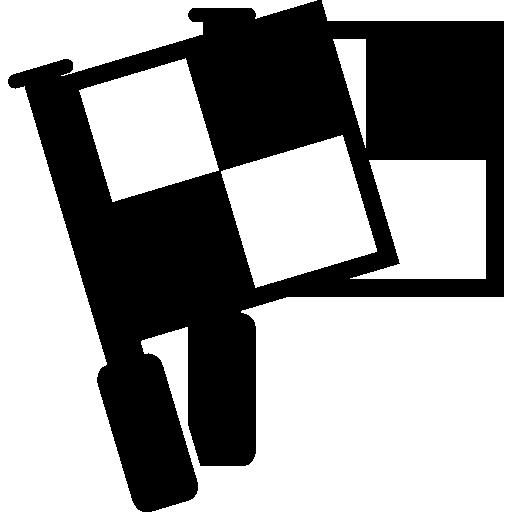 체크 무늬 깃발  무료 아이콘