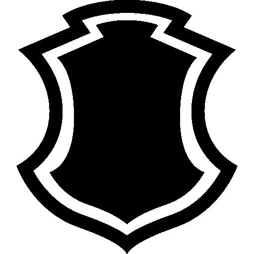 forma de escudo com borda  grátis ícone
