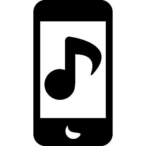 iphone mit musiknote  kostenlos Icon