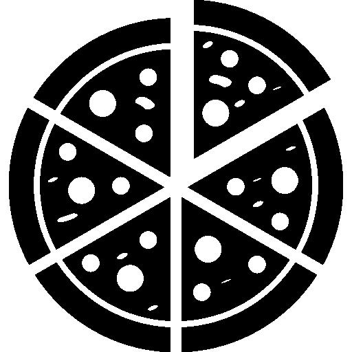 Italian pizza cut into slices  free icon