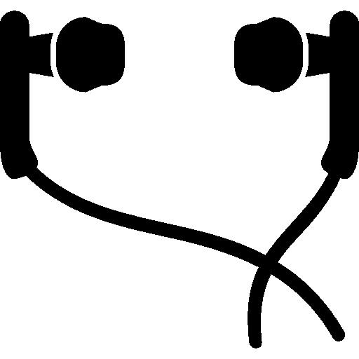 auriculares intrauditivos con cable  icono gratis