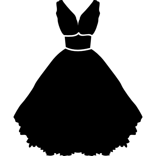 Stylish strapless dress with belt and petticoat  free icon
