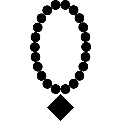 Pearl necklace with diamond pendant  free icon