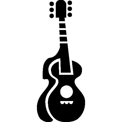 violão com silhueta  grátis ícone