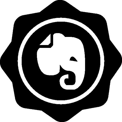 사회 배지에 코끼리  무료 아이콘