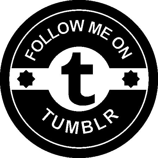 Follow me on Tumblr social badge  free icon