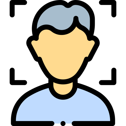 Face detection  free icon