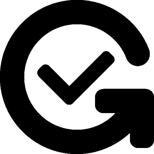 Confirm  free icon
