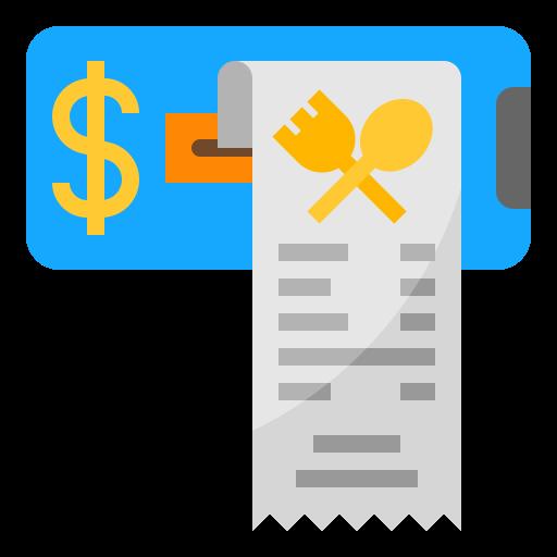 Paper bill  free icon