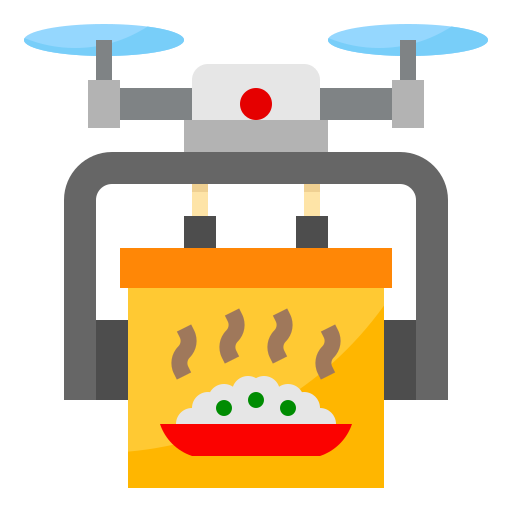 Drone delivery  free icon