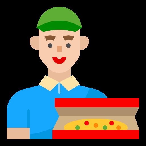 Pizza deliver  free icon