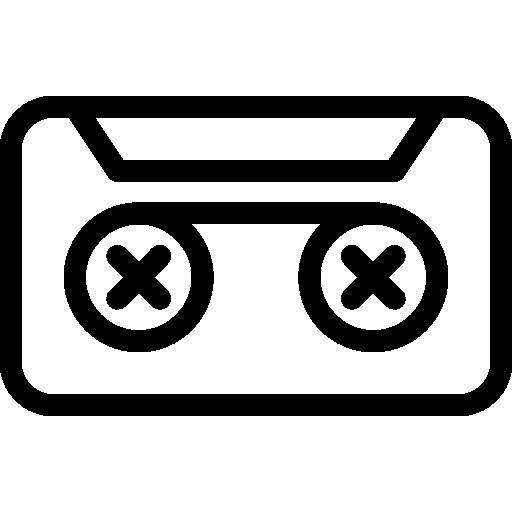casete  icono gratis