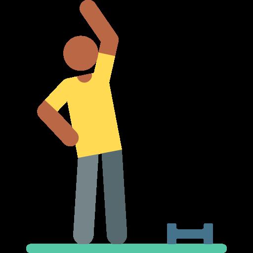 rutina de ejercicio  icono gratis