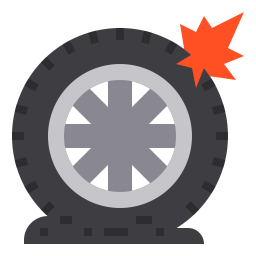 pneu à plat  Icône gratuit