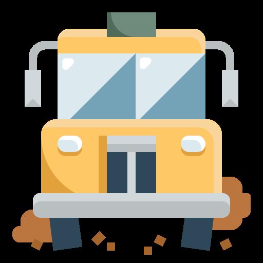 Ônibus escolar  grátis ícone