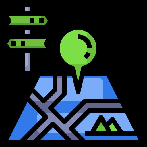 Travel map  free icon