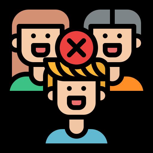 evitar las multitudes  icono gratis