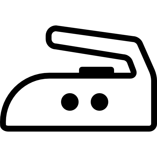 Iron side outline with two dots  free icon
