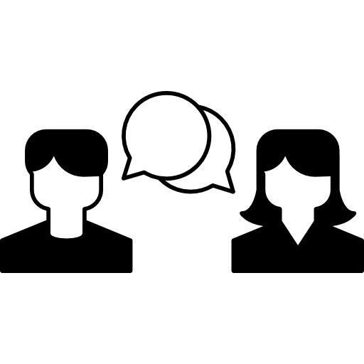 comunicación de pareja heterosexual  icono gratis