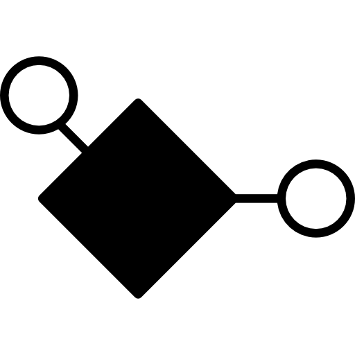 diamant in schwarzer farbe und kleinen kreisumrissen  kostenlos Icon