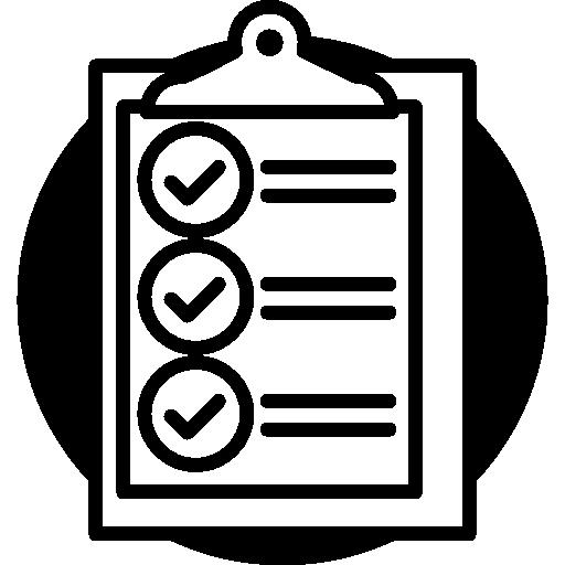체크리스트가있는 클립 보드  무료 아이콘