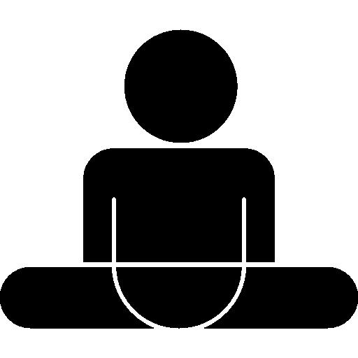 homem em posição dividida  grátis ícone