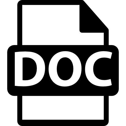 DOC file format  free icon