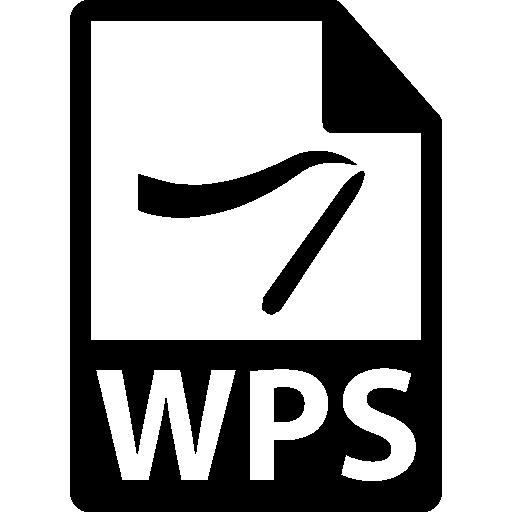 wps 파일 형식  무료 아이콘